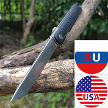 D2 folding knife, high hardness stainless steel outdoor knife, camping, barbecue, jungle durable, black / army green