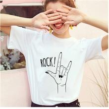 Летняя женская футболка с графическим рисунком модная для подростков