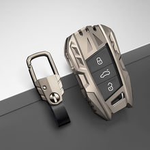 Car key case For Volkswagen VW Tiguan MK2 Magotan Passat B8 CC For Skoda Superb A7 17 2018 2019 2020 key shell cover key chains