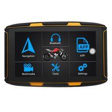 Karadar мотоциклетные GPS навигатор мото Водонепроницаемый 5 дюймов IPS резистивный Экран Android 6,0 RAM1G флэш-памяти 16G IMMO Деактиватор Бесплатная Карт...