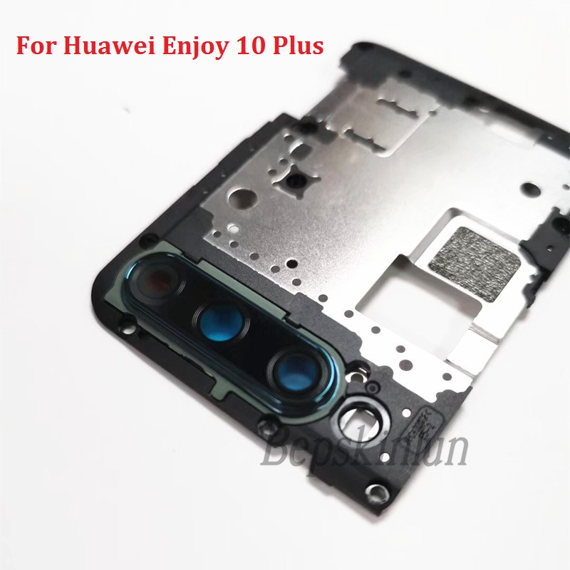 Bepskinlun Original Main Motherboard With Camera Len Ring Board Replacement Part For Huawei Enjoy 10 Plus