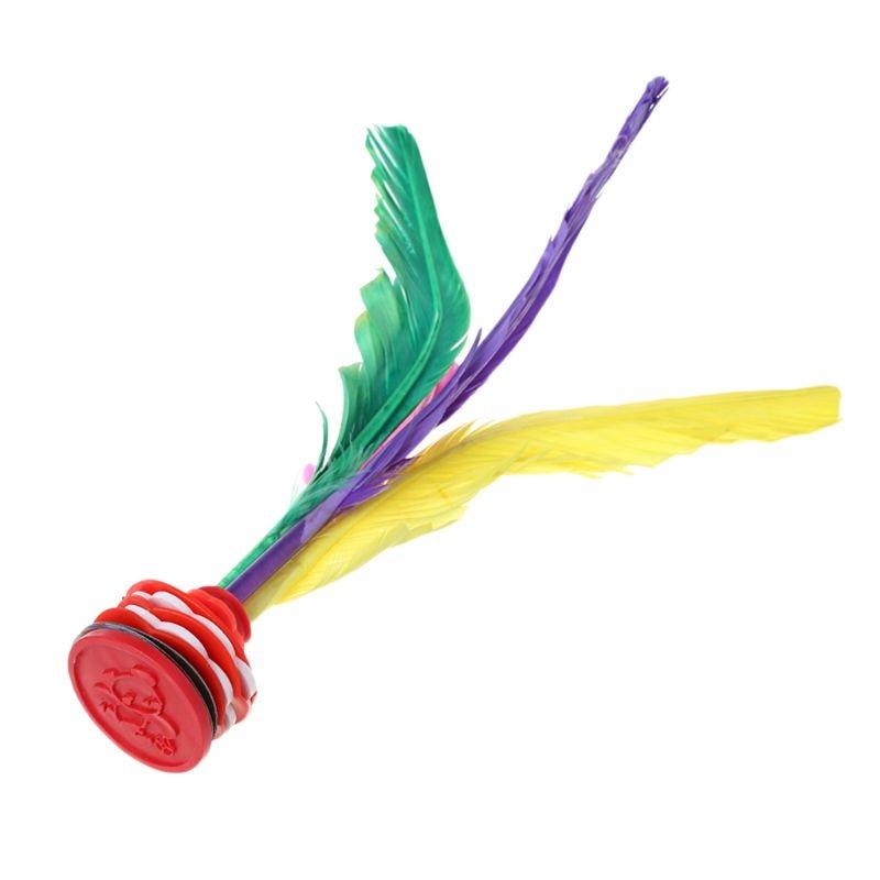 Pena colorida Chinês Jianzi Brinquedo Esportes Aptidão Jogo Pé Chutando Peteca