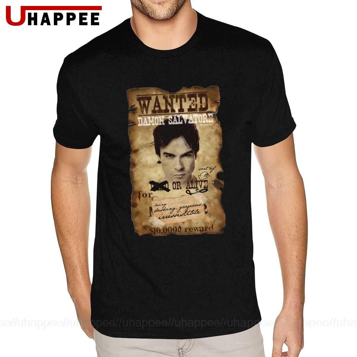 computer guardia Lavoro duro e faticoso  Printing Damon The Vampire Diaries T Shirt Men Custom Print Short Sleeves  Premium Cotton Crew Neck Tees|T-Shirts| - AliExpress