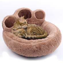 Мягкая бархатная кровать для домашних животных милая Лежанка