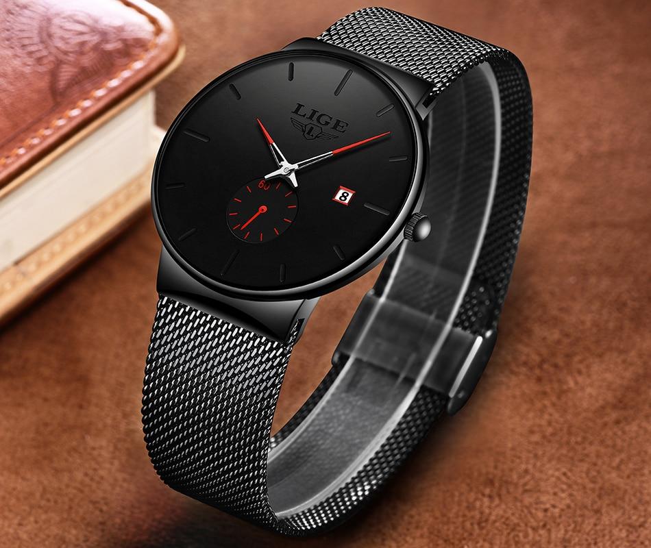 H495823ca342e4e0d9b87dcb1d76f8e95y New LIGE Mens Watches Casual Fashion Gift Men Watch Business Waterproof Quartz Watch Full Steel Clock Relogio Masculino+Box