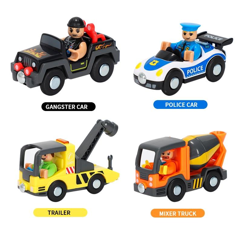 Разнообразные дополнительные железнодорожные автомобили, универсальные транспортные средства, самолеты, совместимые с деревянными треками поезда Brio, детские игрушечные автомобили