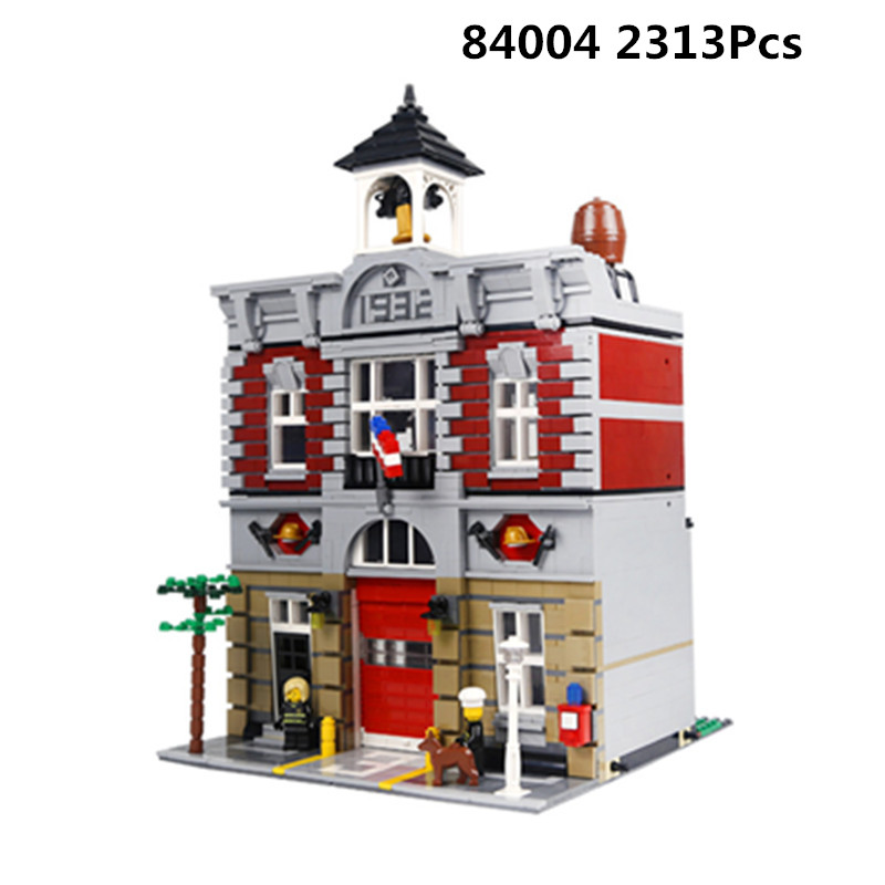 15004 2313Pcs City Stree Fire Brigade Building Blocks Bricks set Children's Christmas gift Compatible with <font><b>10197</b></font> image
