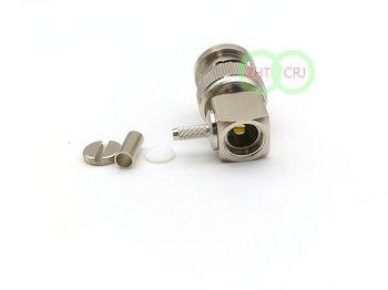 75Ohm BNC enchufe macho engarzado para RG179 RG316 RG174 cable RF coaxial conector nuevo