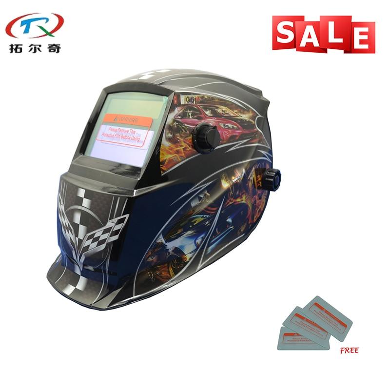 Black Chameleon Welder Mask PP Skull Solder Mask Electronic Custom Auto Darkening Welding Mask Solar And Battery GD06(2200DE)W