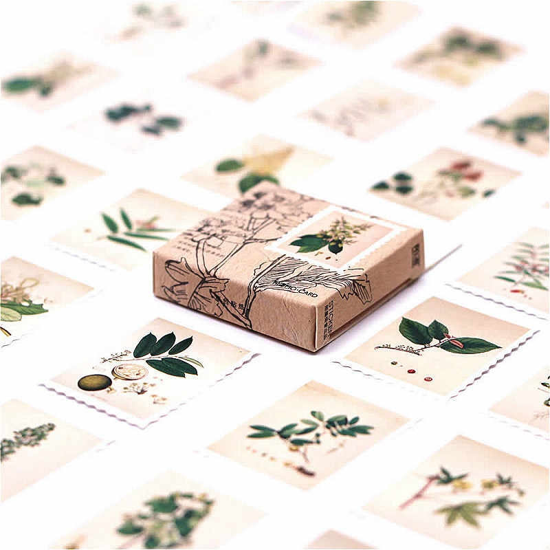 1 Pack Delicate Plant Atlas Washi Tape Basic Kleur Papier Washi Tape Plakband Diy Decoratieve Label Briefpapier Tapes