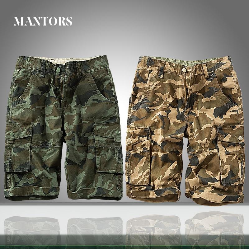 Men Shorts Casual Camouflage 2020 Summer Jogging Male Military Cargo Shorts Multi-pocket Loose Men's Work Short Pants Plus Size