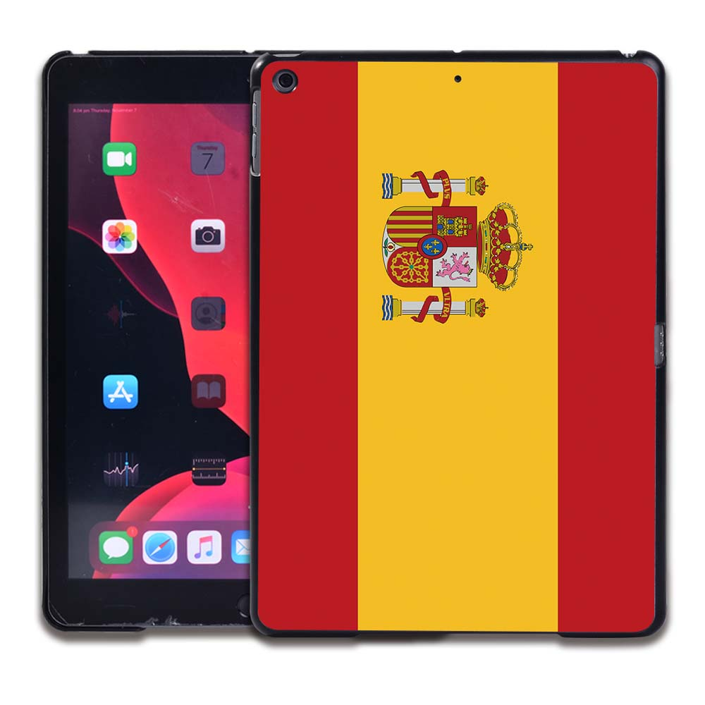 3.Spanish flag White Tablet Hard Back for Apple IPad 8 2020 8th Gen 10 2 A2270 A2428 Z2429 Z2430
