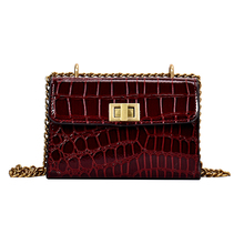 Mini Stone Pattern Crossbody Bags For Women Fashion Chain Small Flap Chic Pu Shoulder Messenger Designer Handbag