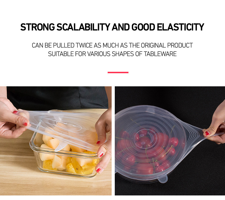 Details about  /6-Pack Food Grade Lid For Airtight Container Versatile Bowl Lid Seal Household