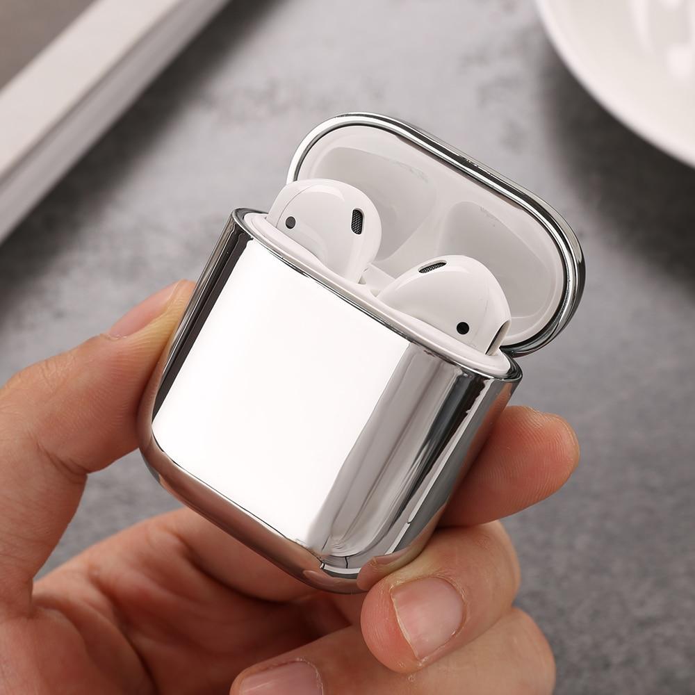 Housse de étui pour écouteurs de luxe en argent doré pour Airpods 1 2 coque de protection antichoc pour Airpods 1 2 boîtier de charge