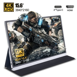 Портативный монитор 15,6 дюйма, 4K, 3840*2160, для Ps4, Xbox, Huawei, Samsung, телефона, ноутбука, ПК, компьютера, ЖК-экран, дисплей 17