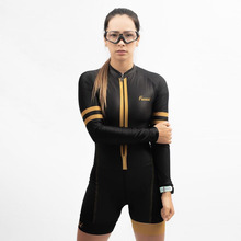 triathlon 2019 Frenesi womens skinsuit sexy body Long sleeve jersey MTB Maillot ciclismo bicicleta ski suit cycling set