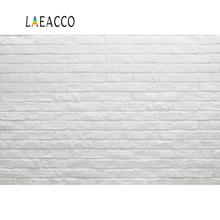 Laeacco Vinyl Backgrounds Gray Brick Wall Party Wedding Birthday Baby Portrait Photographic Backdrops Photocall Photo Studio