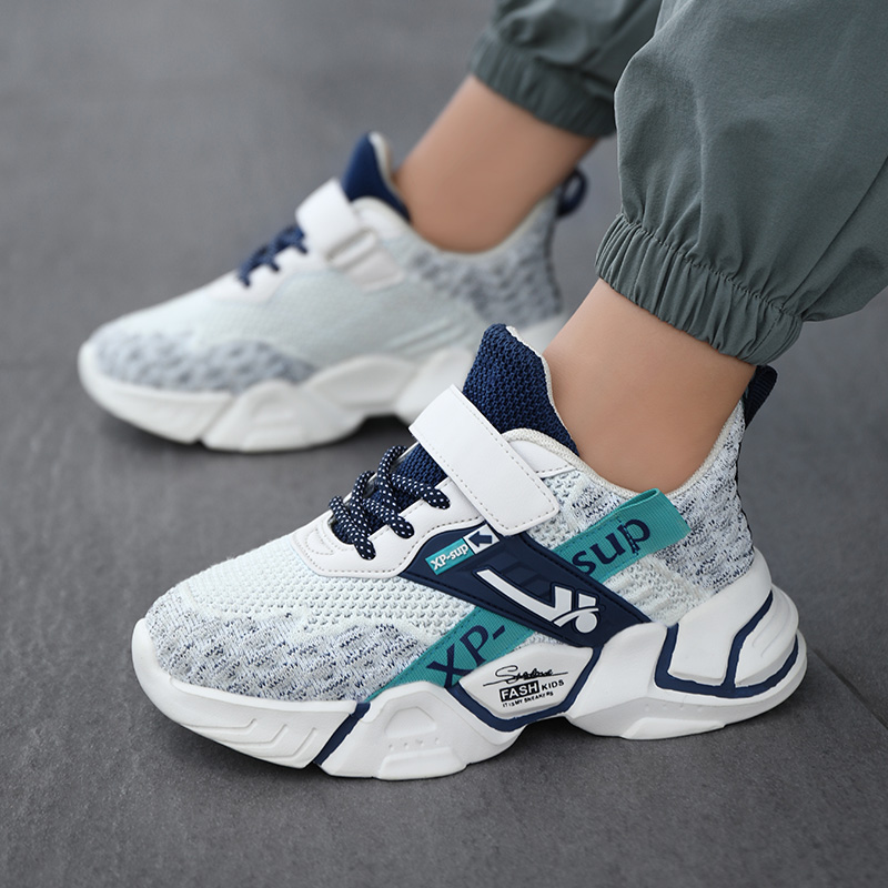 Children Casual Shoes Boys Light Sneakers Student Kid Summer Size 5 8 9 12 13 Years Old Mesh Sport Footwear Winter Spider 7-12y