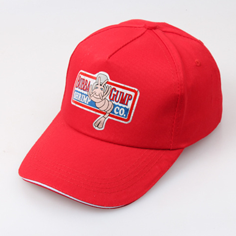 1994 BUBBA GUMP SHRIMP CO. Printing Baseball Cap Unisex Sport Summer Cap Red Summer Hat Forrest Gump Costume Fashion Hats