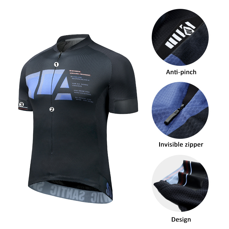 Mens Cycling Jerseys Short Sleeve Bike Half zipper Bicycle Shirt Tops Breathable