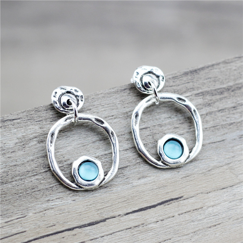 Anslow 2020 Fashion Jewelry New Designer Round Shape Women Female Charms Earrings Retro Candy Color Beads Wedding Gift LOW0003AE