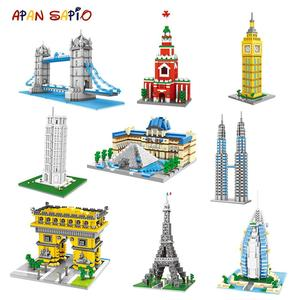 Mini Building Blocks World Famous City Architecture Model Educational Mini Bricks Compatible with Brands Toys for Children Gifts