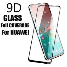 9D templado de vidrio para Huawei Honor 8X10 20 lite pro Protector de pantalla para Huawei Y6 Y7 Pro Y9 p20 lite 2019 Nova 3 3i de protección