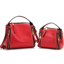 First layer genuine leather mini trendy bags 2019 for women shoulder bag women handbag travel pure color designer crossbody bags trendy off the shoulder pure color mini dress for women