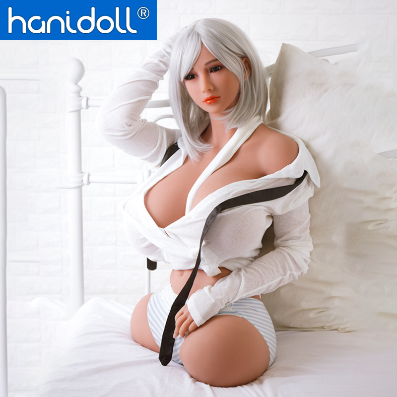 Hanidoll Silicone Sex Dolls 88cm Love Doll Half Body Torso TPE Sex Doll Realistic Big Boobs Toys For Men Lifelike Vagina Fat Ass