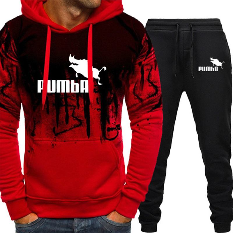 Tracksuit Men Autumn Winter Clothes Pullover Hooded Sweatshirts Pants 2 Pieces Sets Chandal Hombre Track Suit