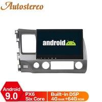 8 Core Android 9 Car GPS Navigation For Honda Civic 2006 2011 Multimedia Player Auto Radio Headunit RHD Dashboard No DVD Player