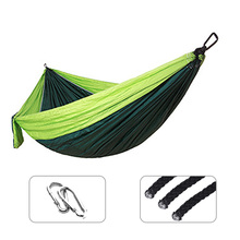 Sibgle Double Hammock Adult Outdoor/Indoor Camping Parachute Backpack Travel Survival Hunting Sleeping Portable Hanging Bed