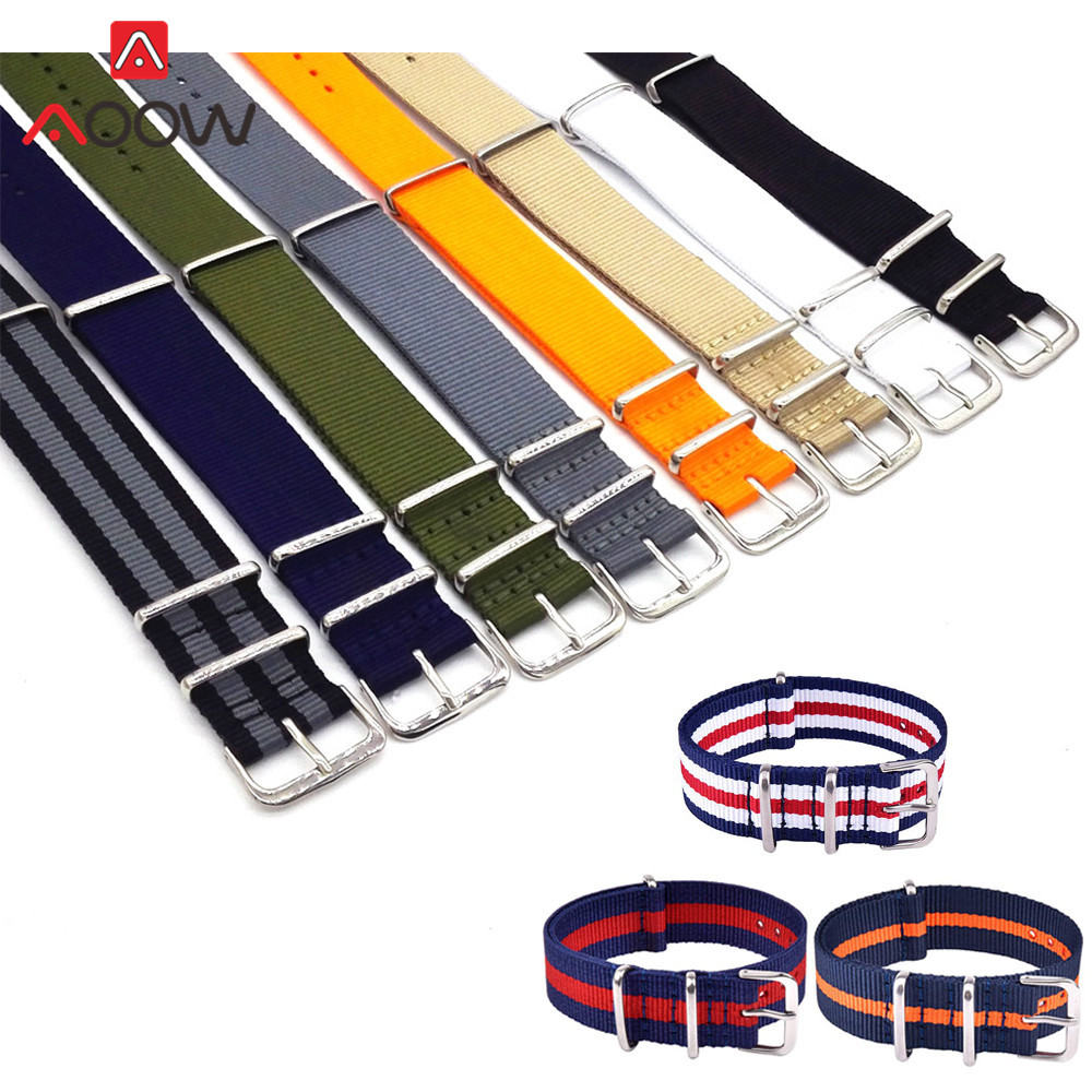 18mm 20mm 22mm Thicken High Quality Universal Nylon Watchband NATO ZULU Canvas Bracelet Band Strap Accessories For DW Watch