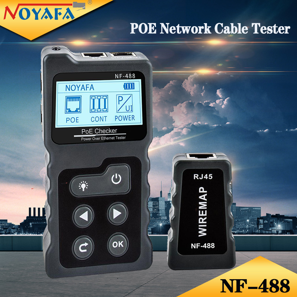 Noyafa Nf 488 Rj45 Digital Ethernet Cat5 Cat6 Lan Tester Cable Tracker Poe Switch Test Networking Lcd Display Network Tools Special Price 9361fa Cicig
