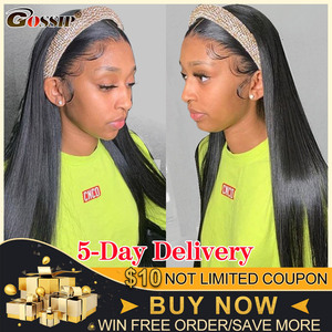 Straight Headband Wig Glueless Human Hair Wigs For Black Women Brazilian Gossip Affordable Remy Headband Wig Beginner Friendly
