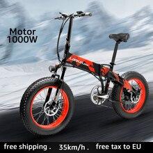 LANKELEISI Electric bicycle 1000W Electric Beach Bike 4 0 Fat Tire Electric Bike 48V Mens Mountain