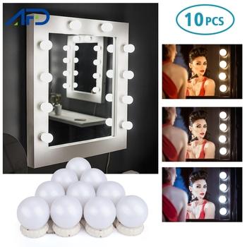 5 10 LED żarówki lustro do makijażu światło białe Hollywood Vanity Lights kinkiet sypialnia Home Decor do toaletka tanie i dobre opinie AFDEAL CN (pochodzenie) PRZEŁĄCZNIK 106528 5 10 led mirror light makeup mirror lights led lights decoration led wall light