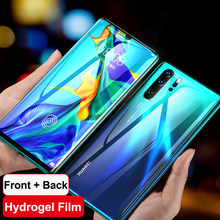 Lamorniea 20D Front+Back Full Coverd Screen Protector For Huawei Mate 30 20 10 Pro Hydrogel Soft TPU Film For Huawei P20 P30 Pro(China)
