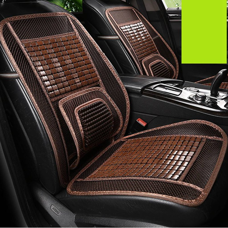 Car-Seat-Cushion Beads Seats Square Universal-Size Wood Bamboo 1 1-Pc Cool Fit-For Most-Cars/summer