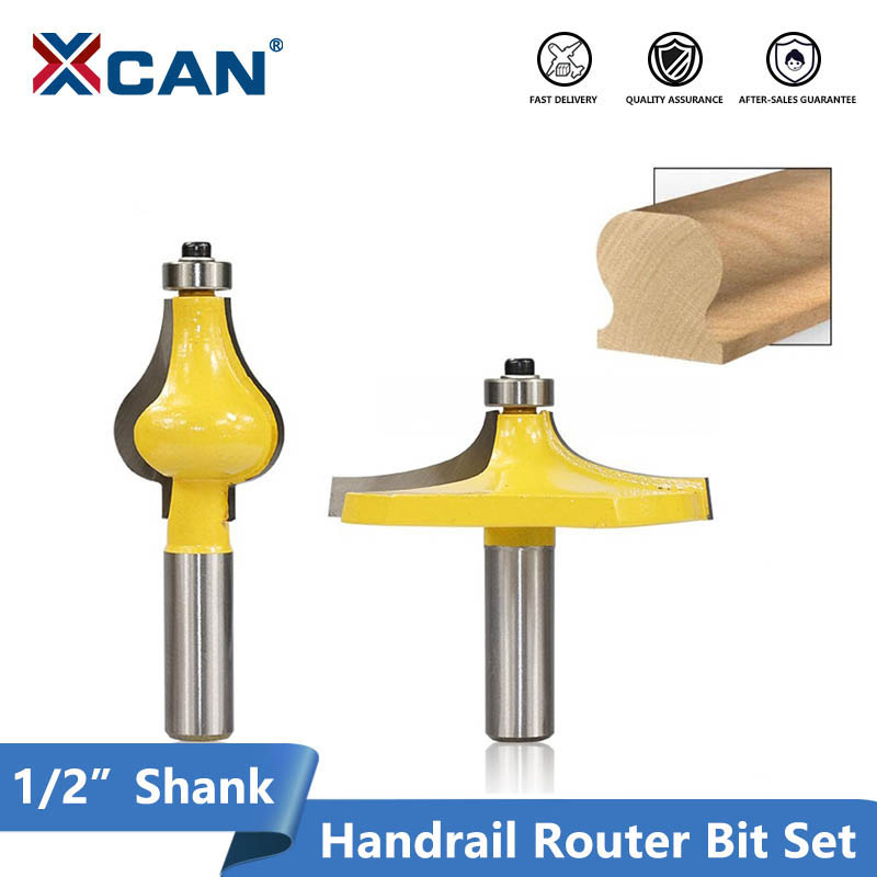 2 Flute Molding Cutter CNC Router Bit Table Edge Hand Rail Router Bit