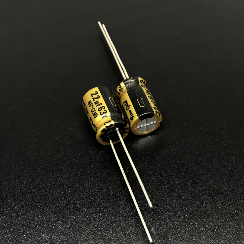 5pcs 22uF 63V NICHICON FG(Fine Gold) 8x11.5mm 63V22uF MUSE Top Grade Audio Capacitor