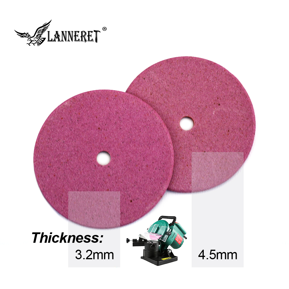 LANNERET Electric Chainsaw Sharpener Diamond Grinding Wheel 100mm Thick 3.2/4.5mm Cutting And Polishing Edge Of Chain Saw Teeth
