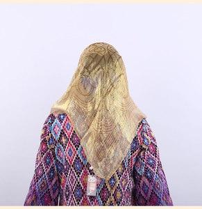 Image 3 - קידום מכירה! משי אקארד צעיף מרובע מוסלמי Hijabs צעיף אתני Ultralight צעיף חיג אב האסלאמי נשים של אביזרים