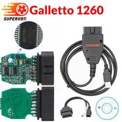 Galletto 1260 ecu chip stroik EOBD Flasher ecu Flasher zielony PCB FTDI FT232RL odczyt i zapis