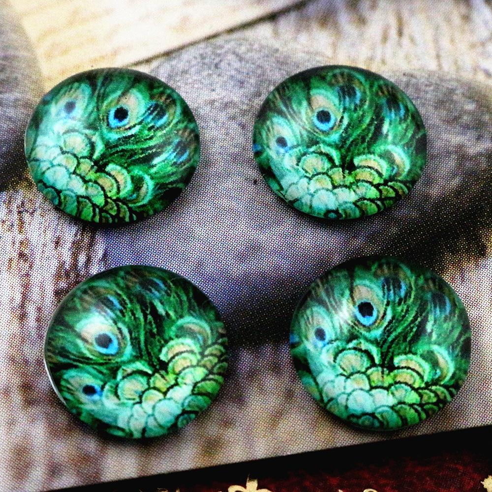 New Fashion  20pcs 12mm Handmade Photo Glass Cabochons E4-93