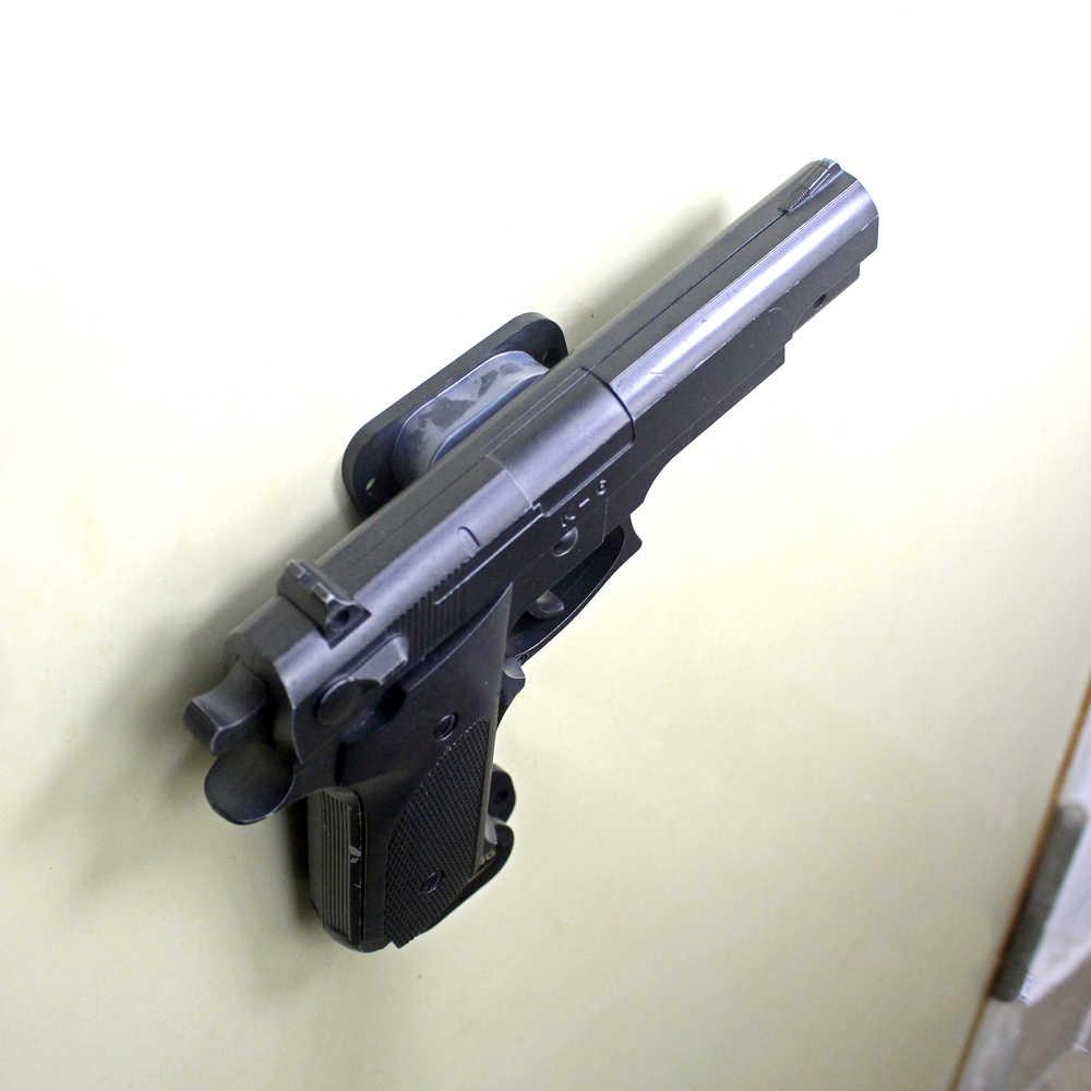 25LB تصنيف بندقية وحدة تركيب مغناطيسية أخفى تحمل حامل بندقية المغناطيس رف لمكتب السرير سيارة مجانية المضادة للخدش غطاء ومسامير في الهواء الطلق