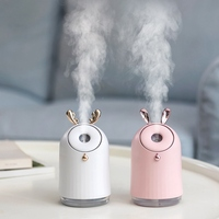 Humidifier USB Charging Home Appliances LED Lamp Romantic Color 250Ml Cute Pet Ultrasonic Cool Mist Aroma Air Oil Diffuser