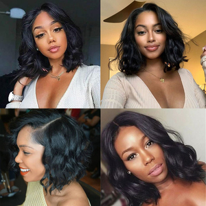 Image 5 - 4x4 Lace Closure Wig Body Wave Wig Short Bob Lace Front Human Hair Wigs Pre Plucked Brazilian Remy Hair Wig For Black Women