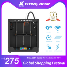 Newest Design Flyingbear Ghost 5 full metal frame High Precision DIY 3d printer Diy kit glass platform Wifi